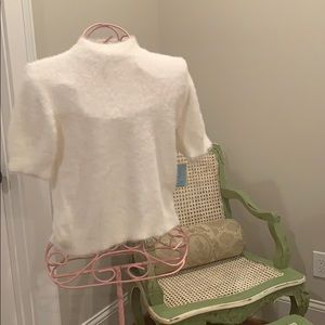 Fuzzy white shirt- with tags, never worn!